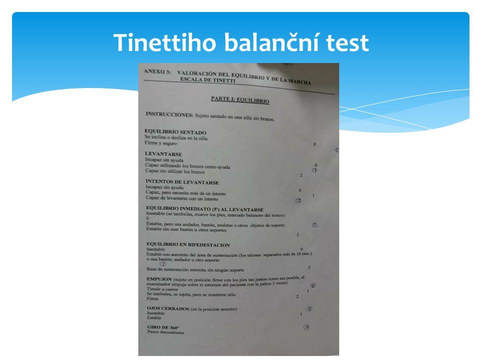Tinettiho balanční test