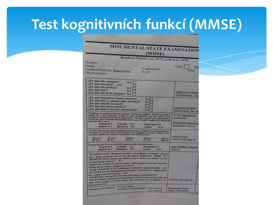 Test kognitivních funkcí (MMSE)