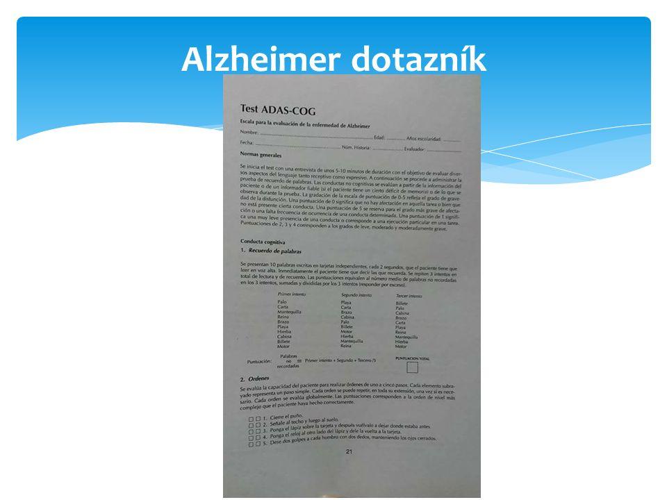 Alzheimer dotazník