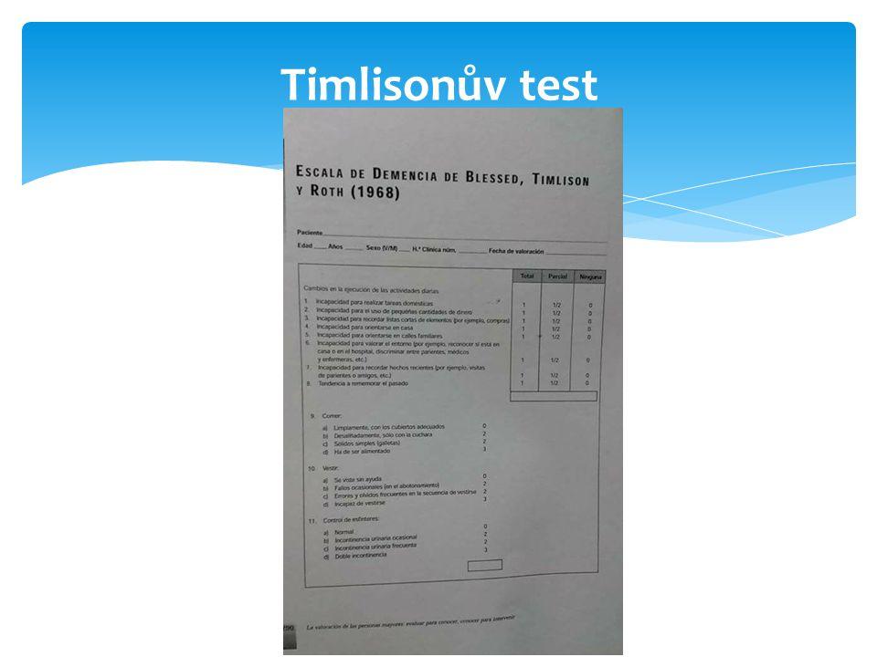 Timlisonův test