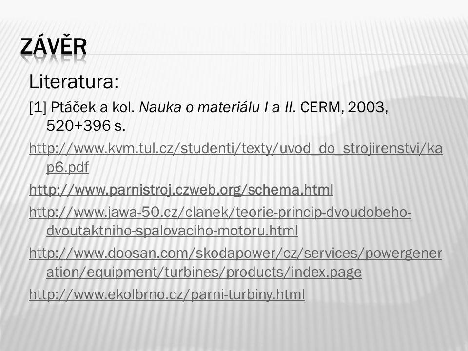 Literatura: [1] Ptáček a kol. Nauka o materiálu I a II.
