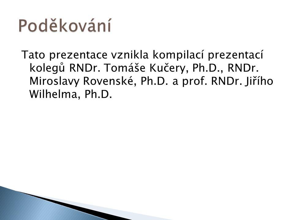 Tato prezentace vznikla kompilací prezentací kolegů RNDr. Tomáše Kučery, Ph.D., RNDr. Miroslavy Rovenské, Ph.D. a prof. RNDr. Jiřího Wilhelma, Ph.D.