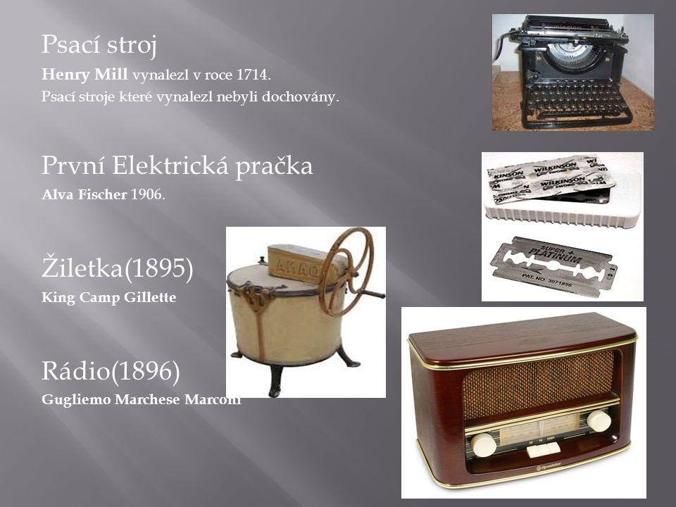 Psací stroj Henry Mill vynalezl v roce 1714.Psací stroje které vynalezl nebyli dochovány.