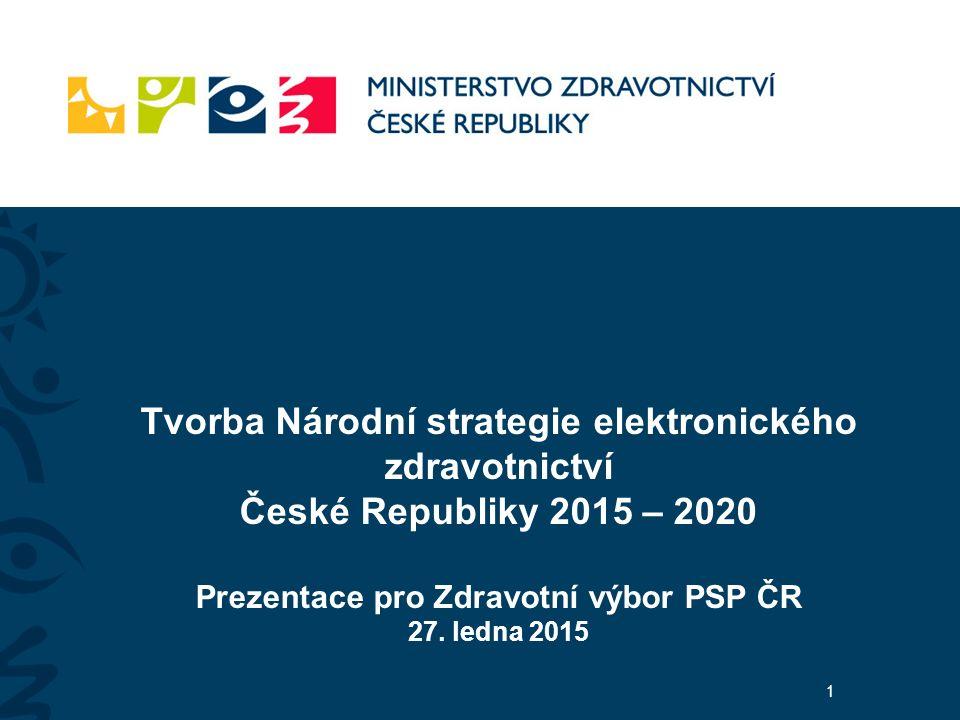 Tvorba Národní strategie elektronického zdravotnictví České Republiky 2015 – 2020 Prezentace pro Zdravotní výbor PSP ČR 27.