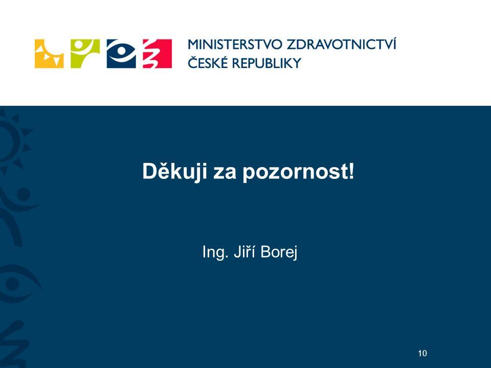 Děkuji za pozornost! Ing. Jiří Borej 10
