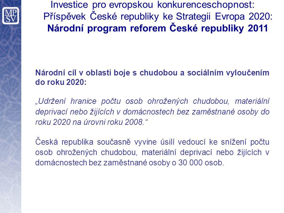 Investice pro evropskou konkurenceschopnost: Příspěvek České republiky ke Strategii Evropa 2020: Národní program reforem České republiky 2011 Národní