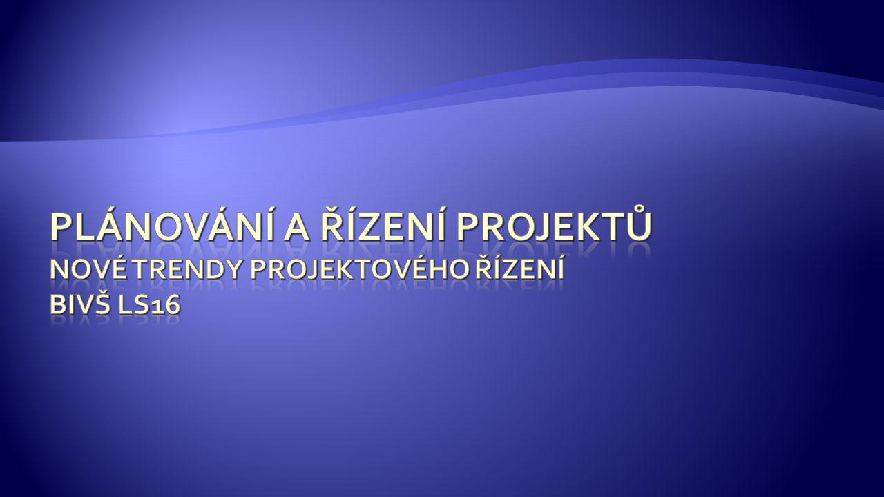 1.IT Project Governance 2. Rozvoj metodik 3. Cloud computing 4.