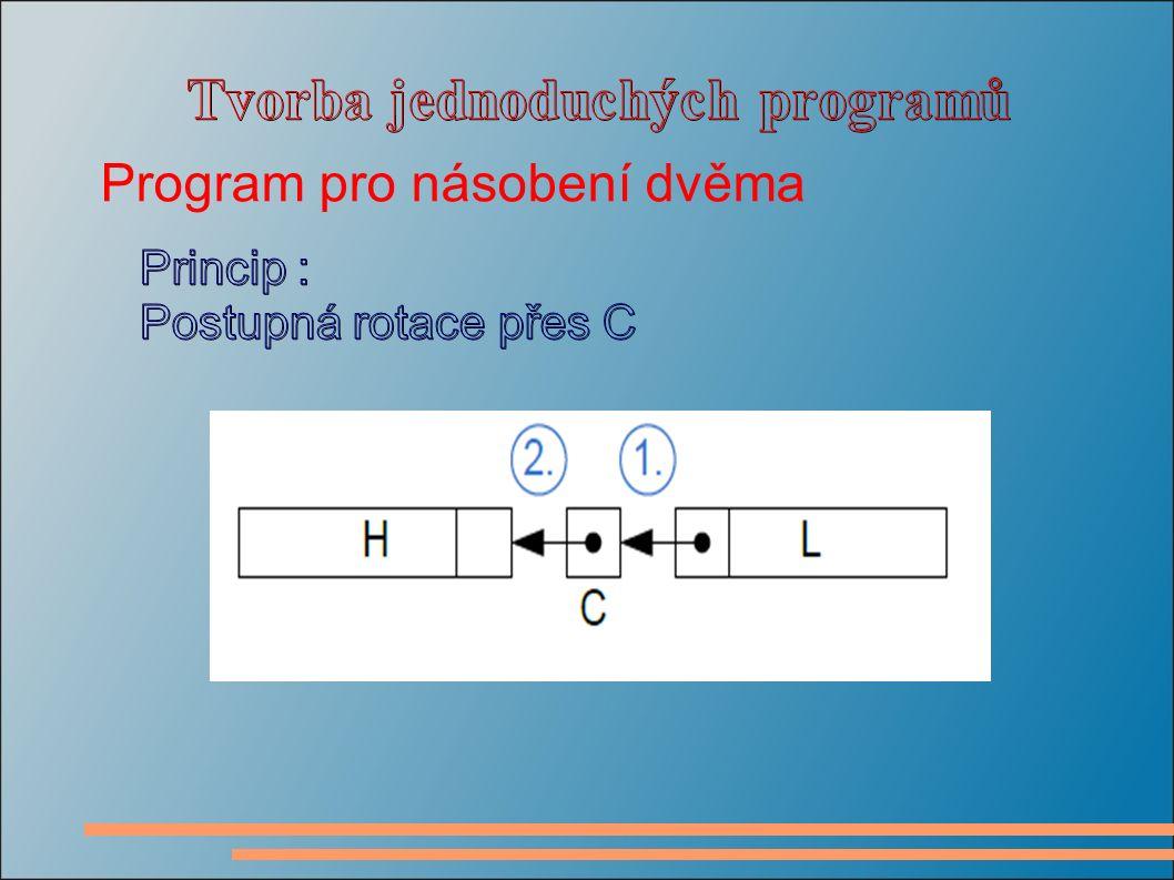 Program pro násobení dvěma