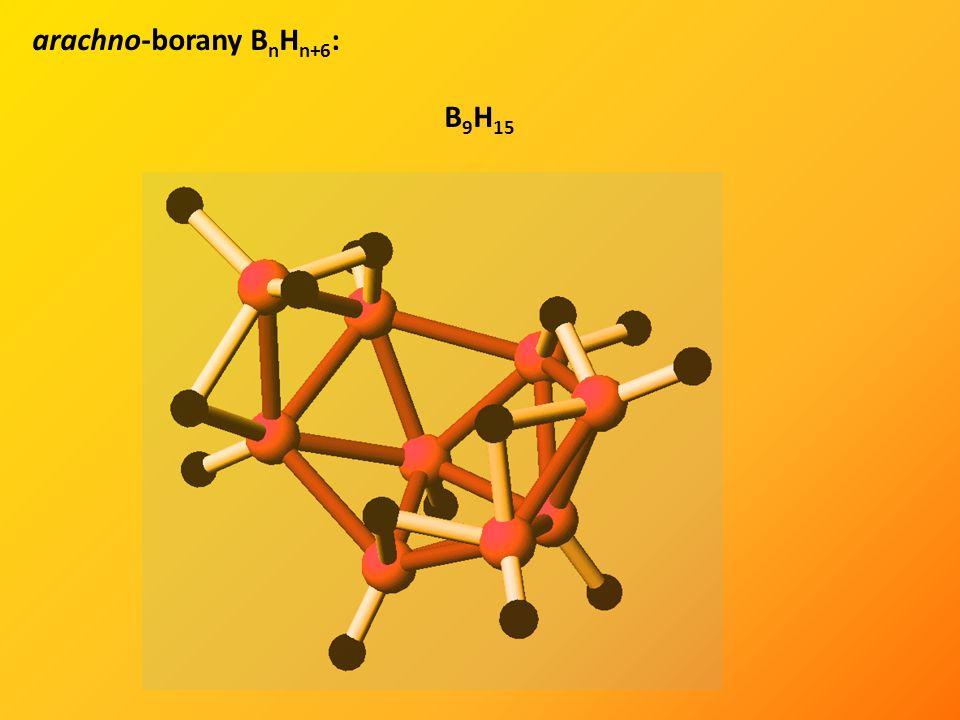 arachno-borany B n H n+6 : B 9 H 15