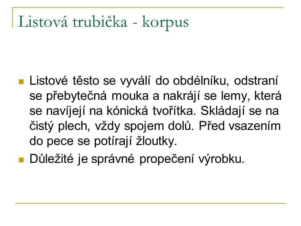 Listová trubička - korpus