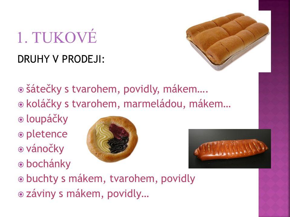 DRUHY V PRODEJI:  šátečky s tvarohem, povidly, mákem….  koláčky s tvarohem, marmeládou, mákem…  loupáčky  pletence  vánočky  bochánky  buchty s