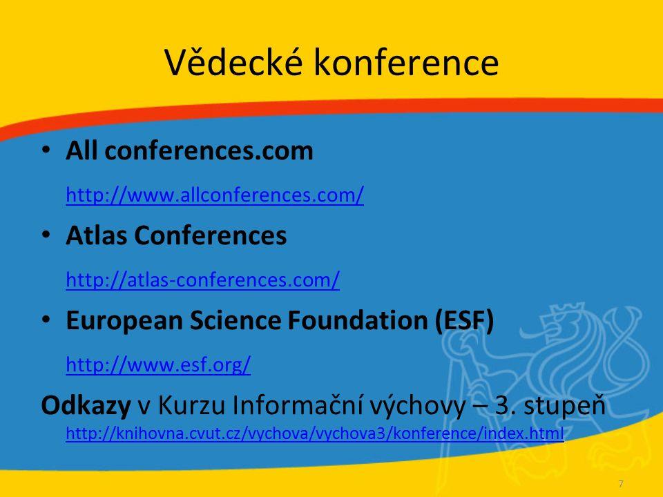 COS Scholar Universe http://www.scholaruniverse.com Celosvětová databáze odborných profilů vědeckých a akademických pracovníků Odborné zaměření, výzkumné projekty a publikační činnost odborníků 1631 odborníků z ČVUT (prosinec 2009) Pravidelně aktualizované a revidované producentem 18