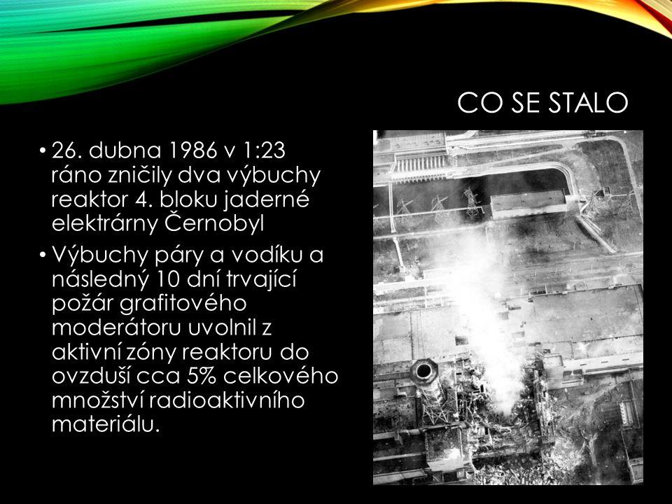 CO SE STALO 26. dubna 1986 v 1:23 ráno zničily dva výbuchy reaktor 4.