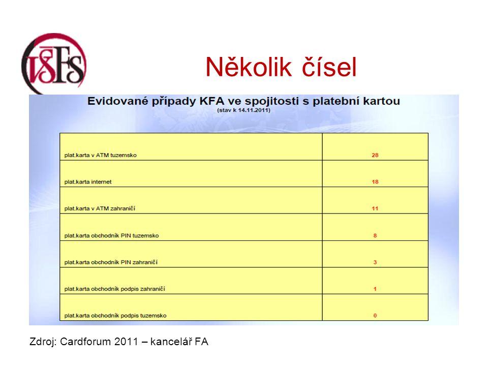 Několik čísel Zdroj: Cardforum 2011 – kancelář FA