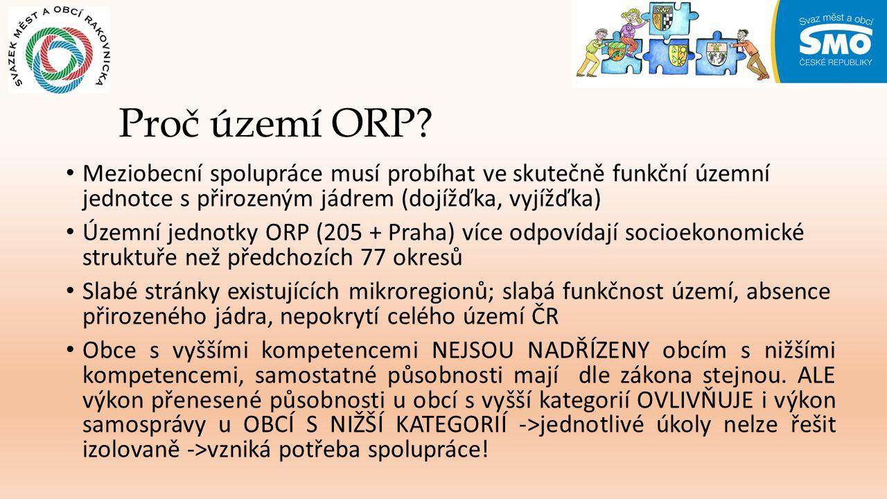 Proč území ORP.