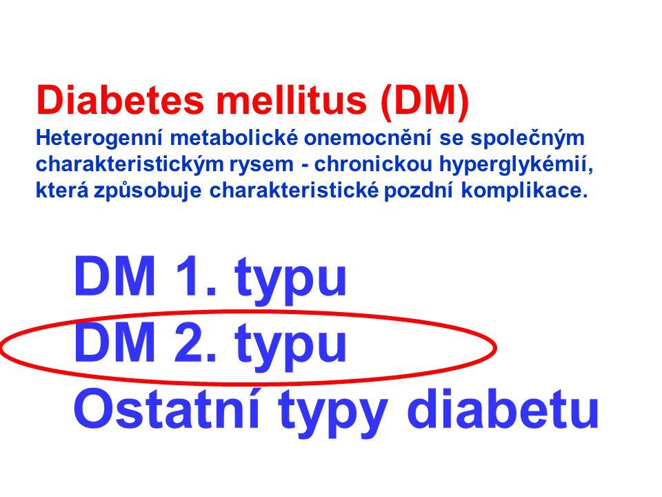 Srdečně cévní komplikace (srdeční infarkt, mozková mrtvice) jsou nejčastější příčinou úmrtí diabetiků cca 75%
