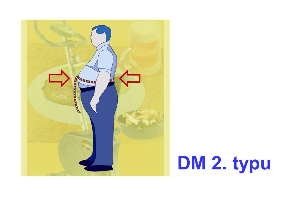 Inzulinová rezistence Centrální obezita Zvýšené tuky v krvi DM 2.typu Vysoký krevní tlak Sklon k tvorbě krevních sraženin Srdce + cévy Metabolický syndrom