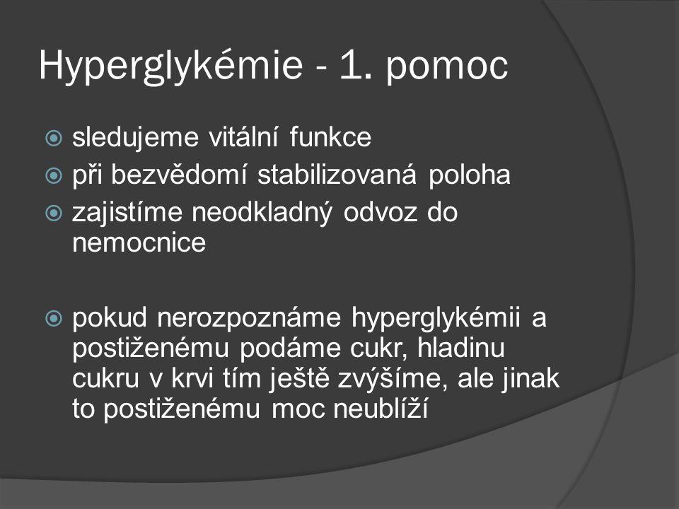 Hyperglykémie - 1.