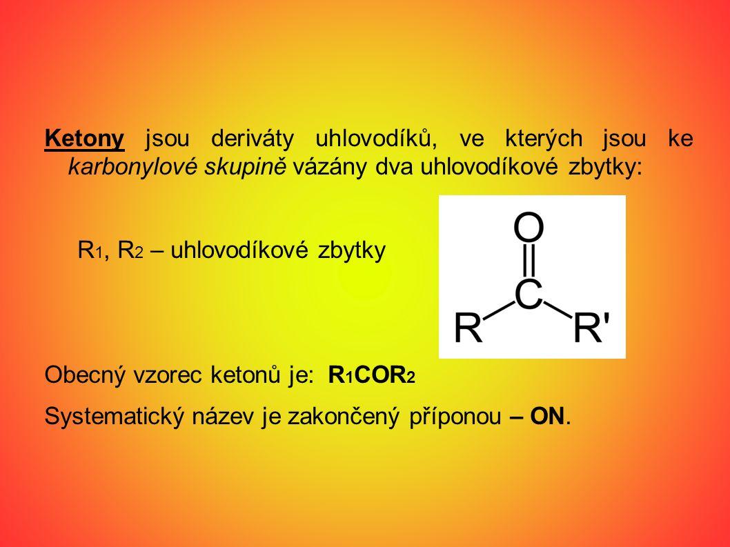 Důkaz aldehydů a ketonů pomocí Bradyho činidla https://www.youtube.com/watch?v=HOvICGE9Aas
