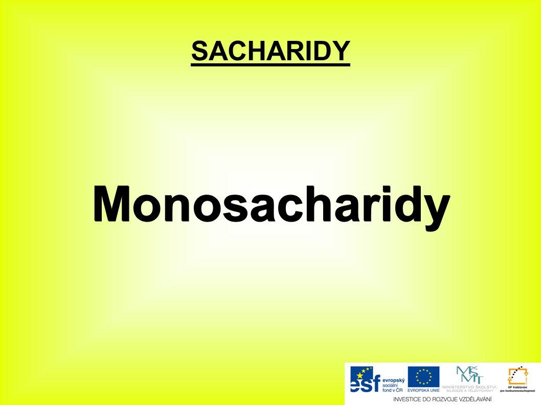 SACHARIDY Monosacharidy