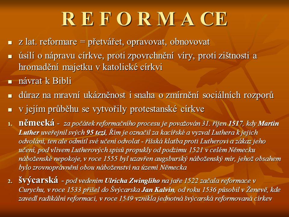 R E F O R M A CE z lat.