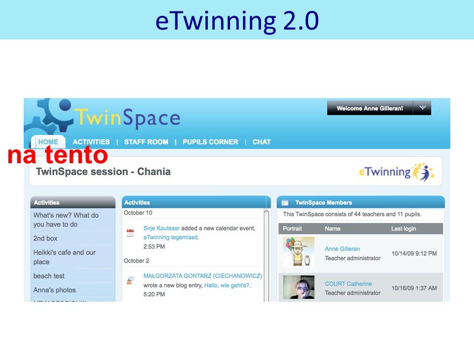 eTwinning 2.0 na tento