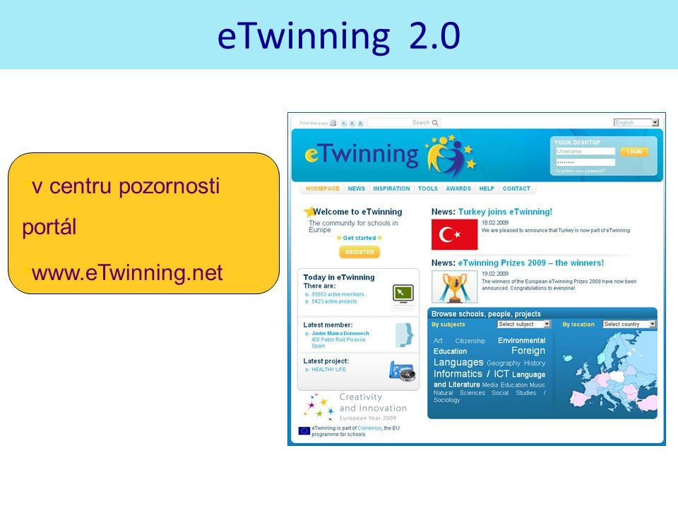 eTwinning 2.0 v centru pozornosti portál www.eTwinning.net www.etwinning.net