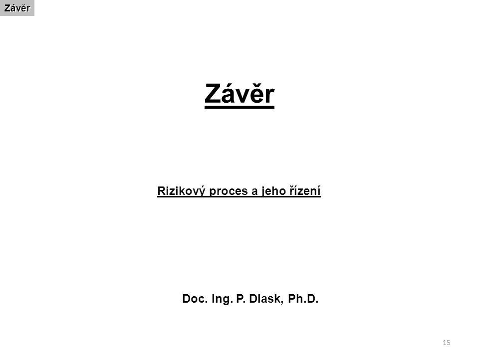 15 ZávěrZávěr Rizikový proces a jeho řízení Doc. Ing. P. Dlask, Ph.D.