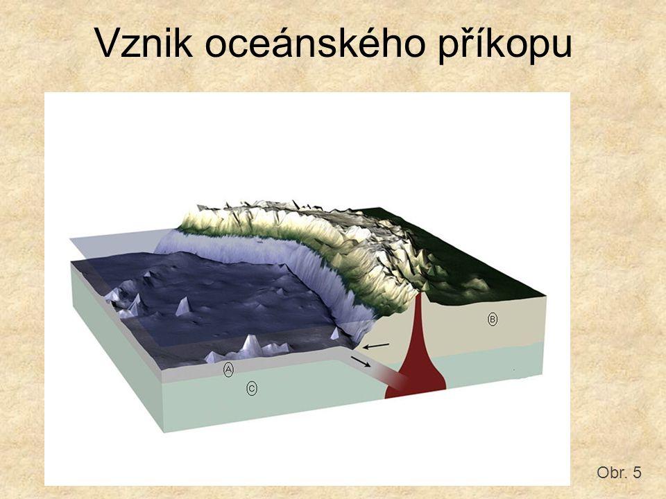 Vznik oceánského příkopu Obr. 5