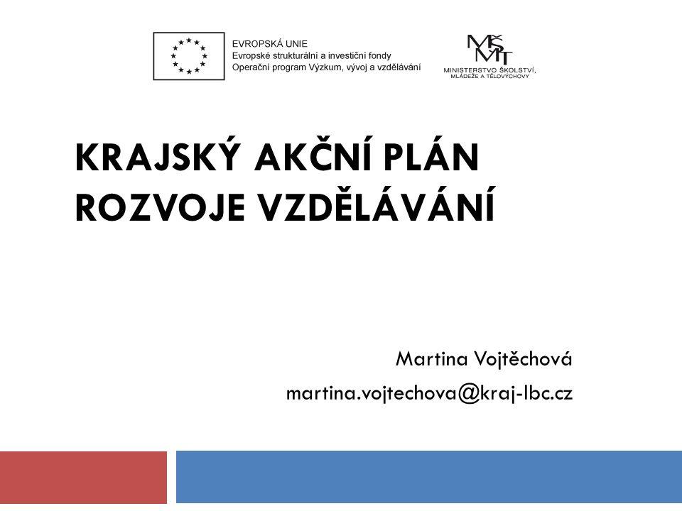 KRAJSKÝ AKČNÍ PLÁN ROZVOJE VZDĚLÁVÁNÍ Martina Vojtěchová martina.vojtechova@kraj-lbc.cz
