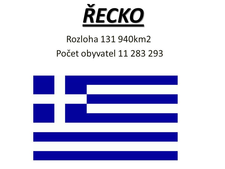 Rozloha 131 940km2 Počet obyvatel 11 283 293 ŘECKO