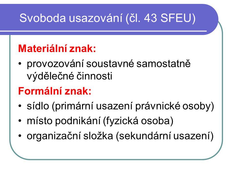 Svoboda usazování (čl.