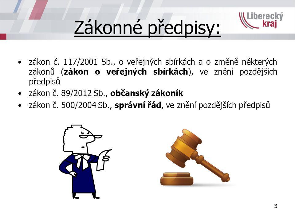 Zákonné předpisy: zákon č.