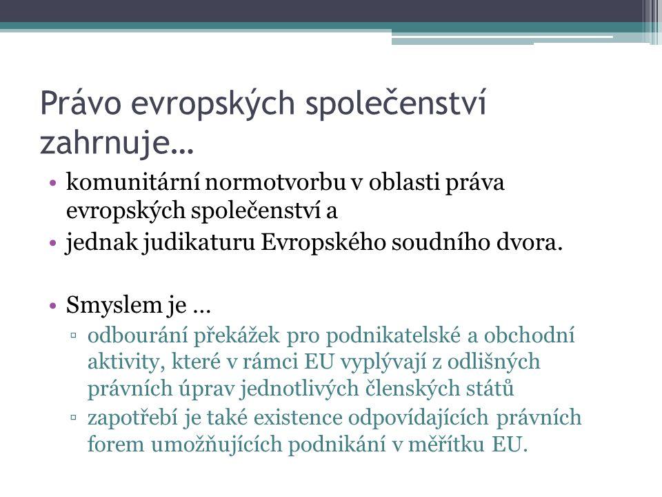 Pojem EHZS a jeho právní podstata Prameny práva EHZS Založení a vznik EHZS Orgány EHZS Publicita EHZS