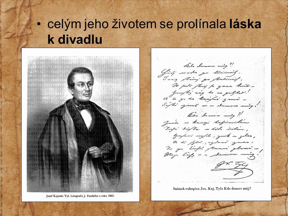 narodil se v roce 1808 v Kutné Hoře studoval v Praze a v Hradci Králové stal se hercem kočovné divadelní společnosti, později založil ochotnické divadlo v Praze na Malé Straně psal verše i prózu, divadelní hry a literární kritiky