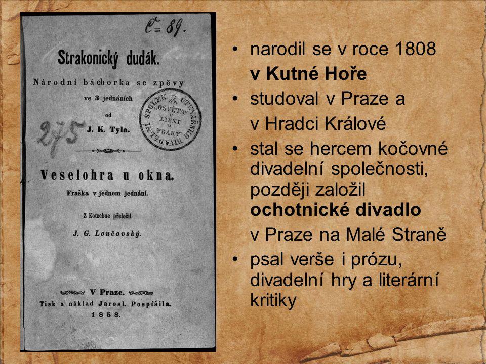 byl také obratným novinářem v časopisech (např. Květy, Vlastimil, Pražský posel)