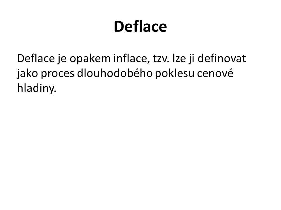 Deflace Deflace je opakem inflace, tzv.
