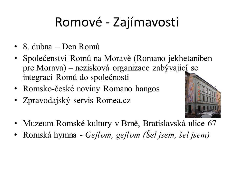 Romové - Zajímavosti 8.