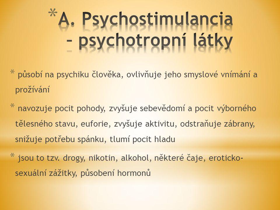 * působí na psychiku člověka, ovlivňuje jeho smyslové vnímání a prožívání * navozuje pocit pohody, zvyšuje sebevědomí a pocit výborného tělesného stav