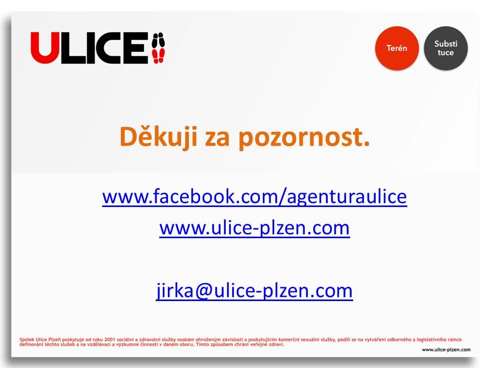 Děkuji za pozornost. www.facebook.com/agenturaulice www.ulice-plzen.com jirka@ulice-plzen.com
