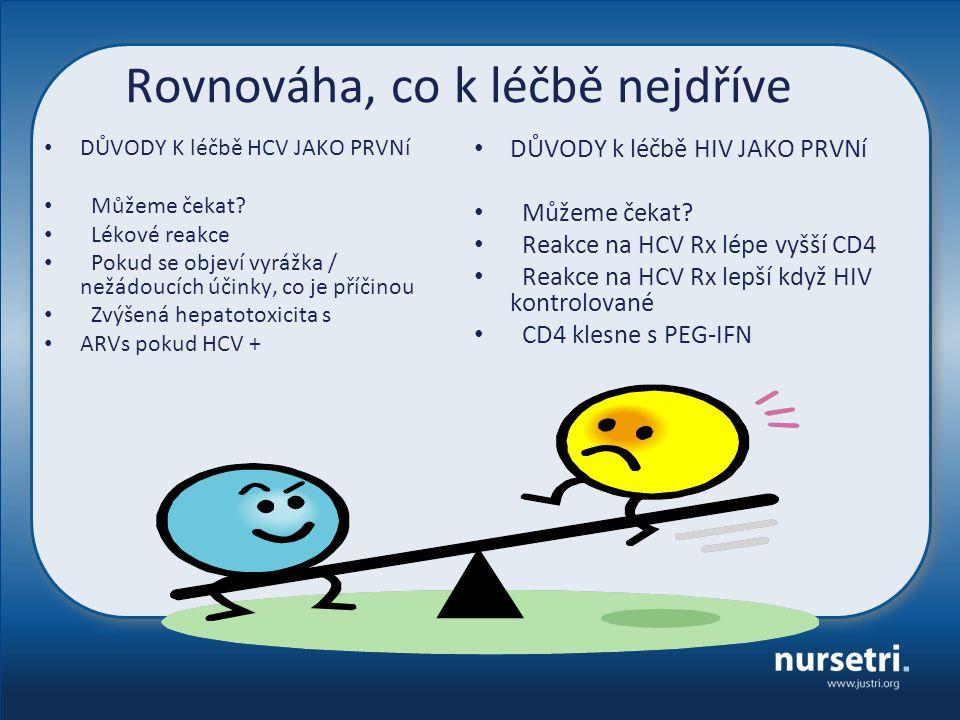 Rovnováha, co k léčbě nejdříve DŮVODY K léčbě HCV JAKO PRVNí Můžeme čekat.