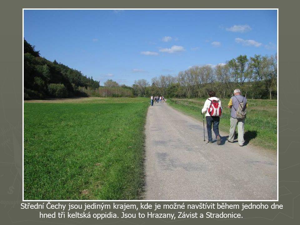 Vrch Hradiště (380m n.m.) kde se nachází Keltské oppidium.