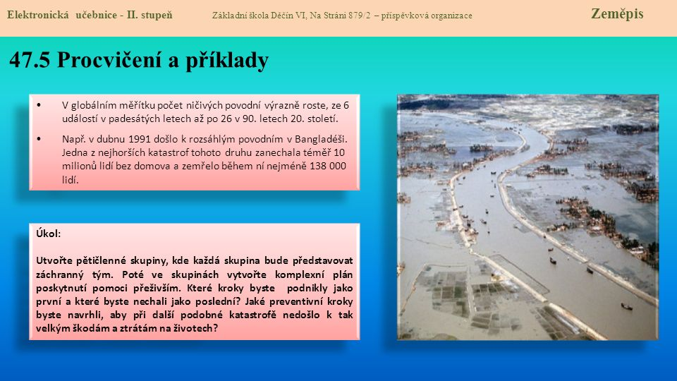 47.5 Procvičení a příklady Elektronická učebnice - II.