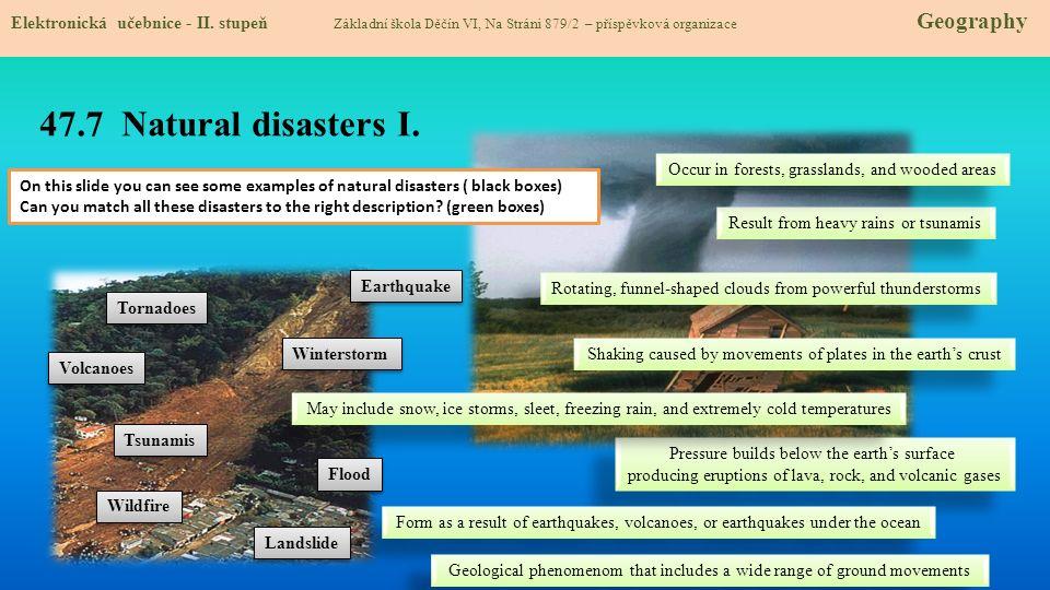 47.7 Natural disasters I.Elektronická učebnice - II.