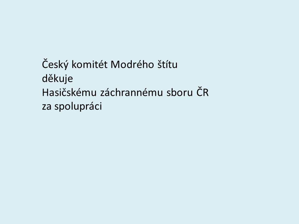 Český komitét Modrého štítu děkuje Hasičskému záchrannému sboru ČR za spolupráci