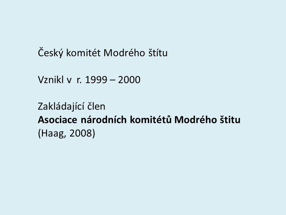 Český komitét Modrého štítu Vznikl v r.