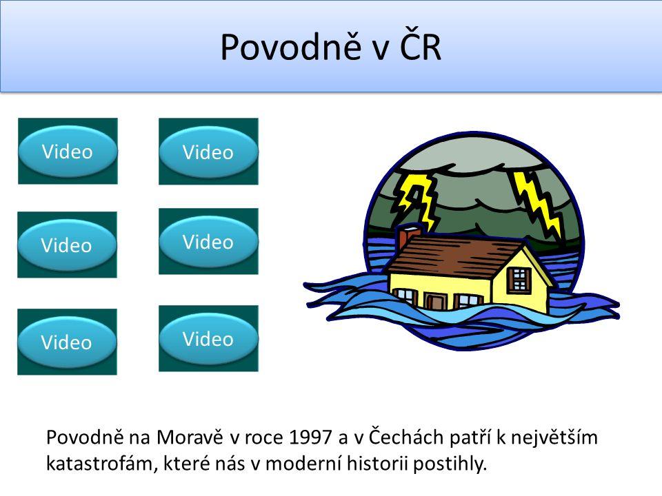 Video Povodně v ČR Video Povodně na Moravě v roce 1997 a v Čechách patří k největším katastrofám, které nás v moderní historii postihly.