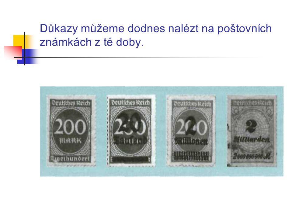 Důkazy můžeme dodnes nalézt na poštovních známkách z té doby.