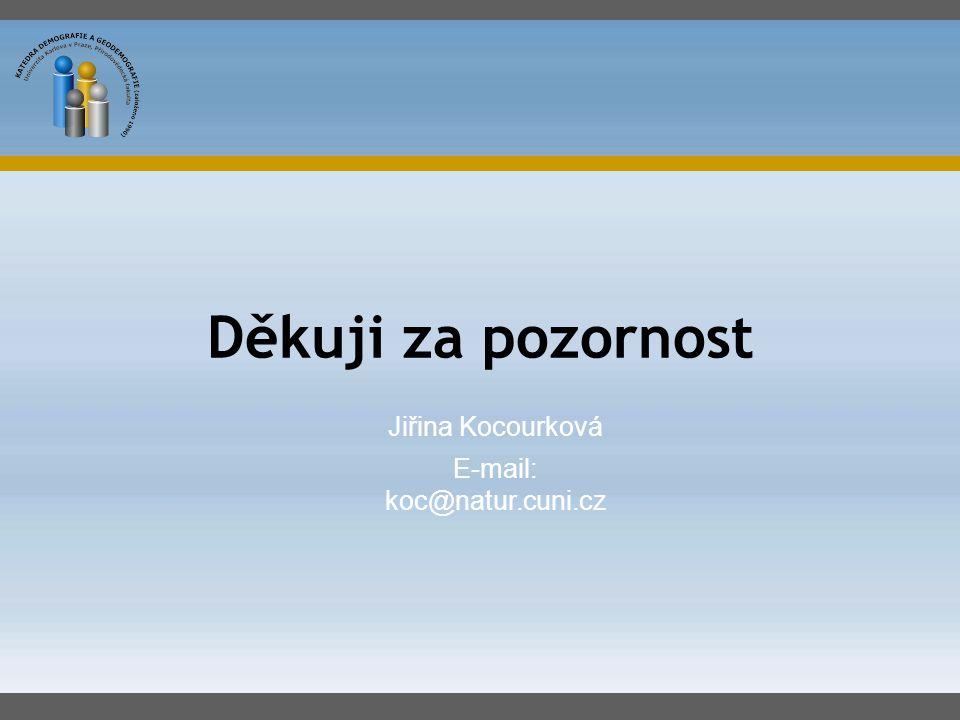 Jiřina Kocourková E-mail: koc@natur.cuni.cz Děkuji za pozornost