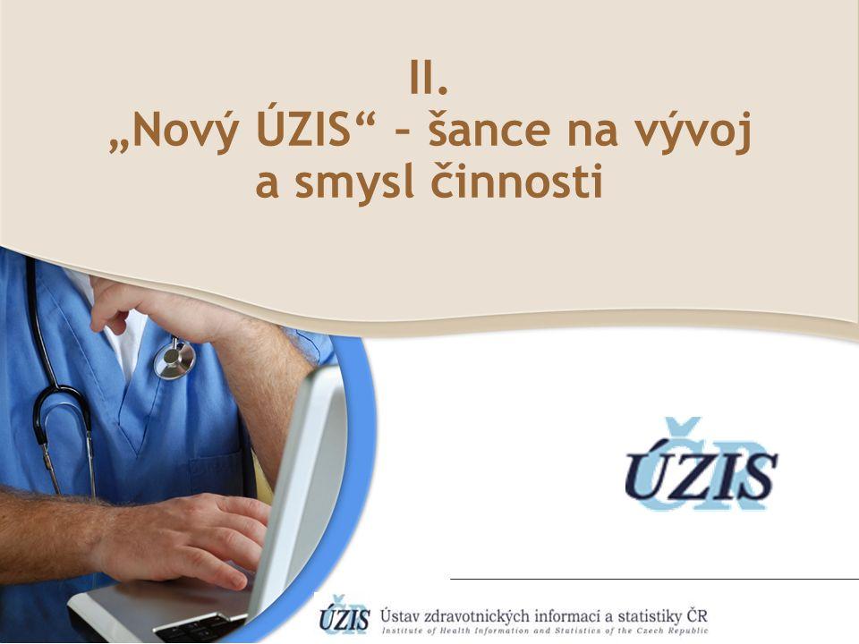 "II. ""Nový ÚZIS – šance na vývoj a smysl činnosti"